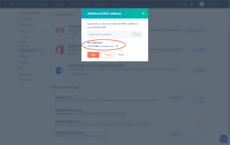 Add Historic Email To HubSpot